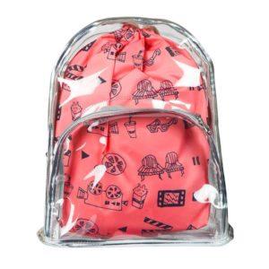 şeffaf doodle çanta