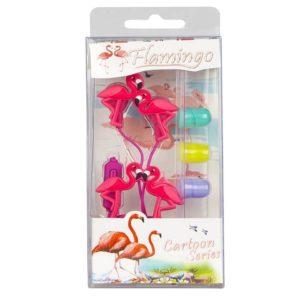 flamingo desenli kulaklık