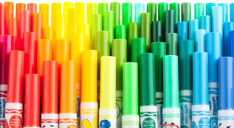 fosforlu kalemler ile rengarenk