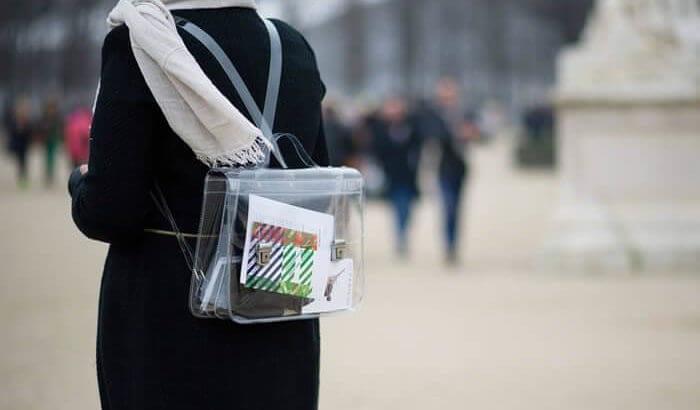 şeffaf sırt çantası
