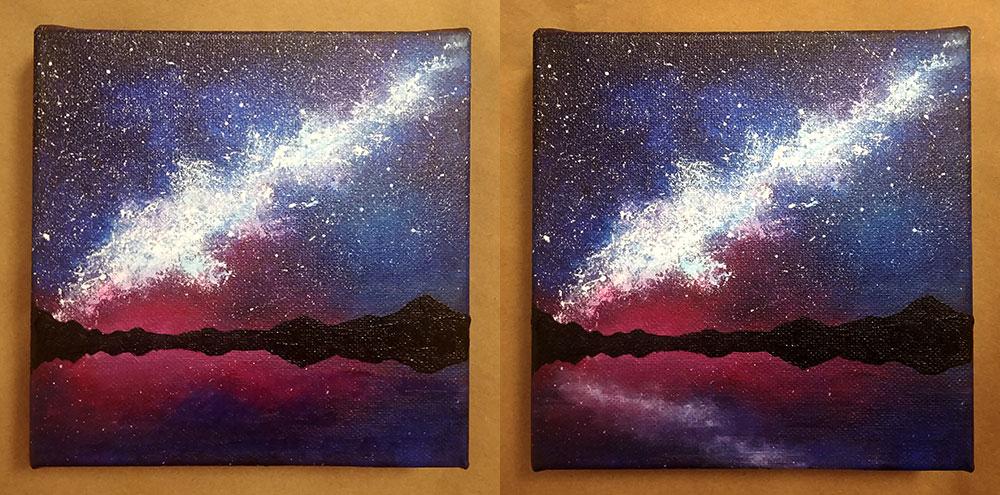 yıldızlı gece nasıl çizilir?