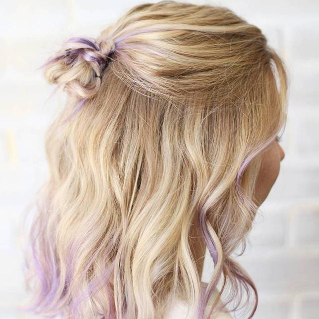 1-Yarım Topuz Saç Modeli
